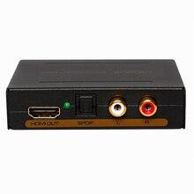 2017 nova hdmi extrator de áudio divisor para spdif rca estéreo l/r analógico conversor de saída