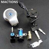 Motorcycle Parts Fuel Gas Cap Key Set Ignition Switch Lock Aluminum For Yamaha VIRAGO XXV240 250 3LS VIRAGO XV535