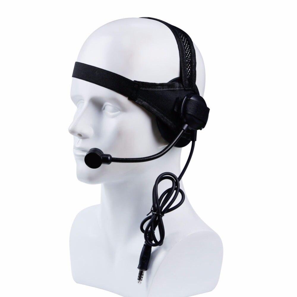 Tactical Headset II mit Mikrofon für PTT Gassi Talkie CS Jagd Spiele Kopfhörer