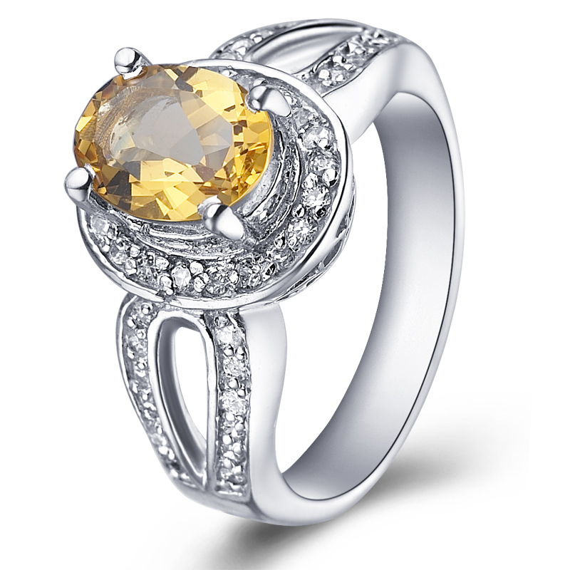 Natural Citrine Ring 925 Sterling Silver Yellow Crystal Woman Fashion Fine Elegant Jewelry Queen Lux Birthstone Gift SR0045C natural citrine ring 925 sterling silver yellow crystal woman fashion fine elegant jewelry queen lux birthstone gift sr0158c