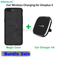 NILLKIN Car Magnetic Wireless Charger Air Vent Mount Car Charger Wireless Charging Receiver Case For Oneplus