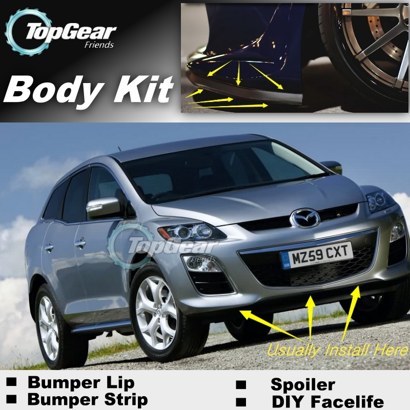 For Mazda CX7 CX-7 CX 7 2012~2015 Bumper Lip / Front Spoiler Deflector For TOPGEAR Friends Car Tuning / Body Kit / Strip Skirt