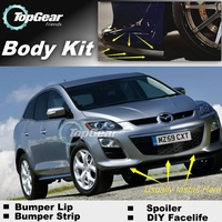 For Mazda CX7 CX 7 CX 7 2012~2015 Bumper Lip / Front Spoiler Deflector For TOPGEAR Friends Car Tuning / Body Kit / Strip Skirt