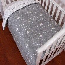 Детское пуховое одеяло, детское постельное белье из хлопка с мультяшным принтом, комплект детского постельного белья, пододеяльник, дышащий, без наполнителя, постельные принадлежности для новорожденных