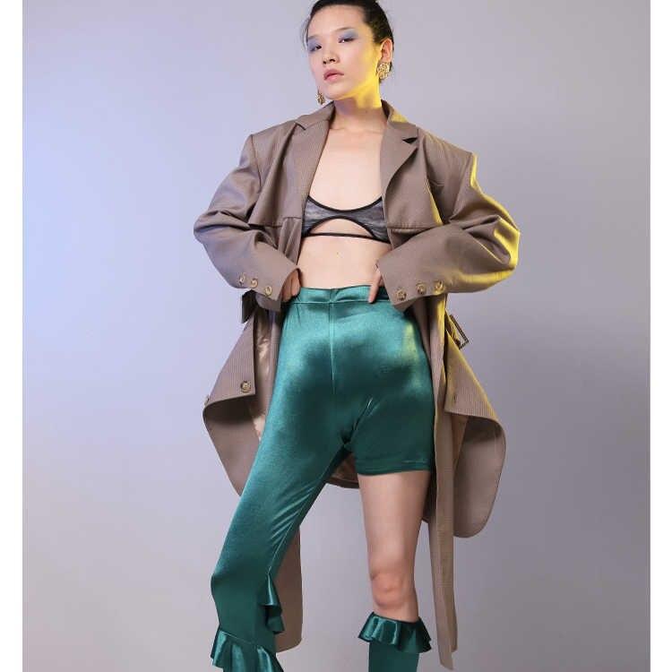 Bureau Designer Sleve Long Évider Costume Plaid Lt680s50 Vestes Bandage Manteau Blazers 2018 Femmes D'affaires Ol Vintage 6vY4wqS
