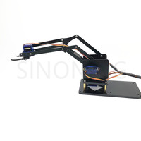 4 dof robotic aluminum alloy sg90 arduino robot assembly makeR