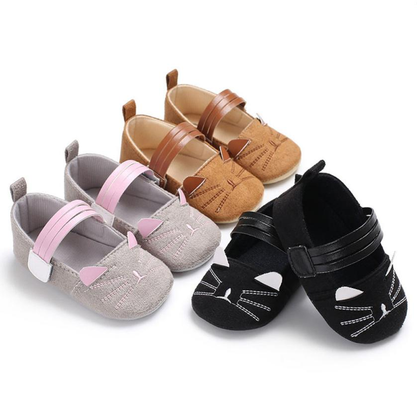 Children Shores First Walker Baby Infant Kids Girl Soft Sole Crib Toddler Newborn Shoes uk f26