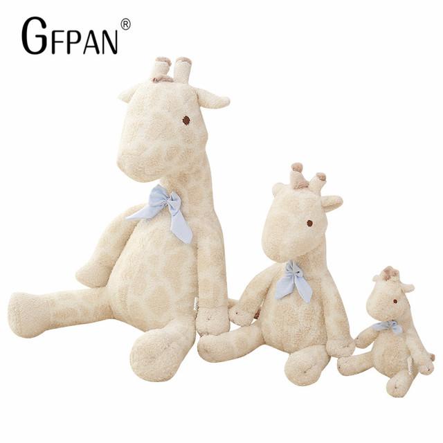 GFPAN 35cm Lovely Giraffe Soft Plush Animal Cute Deer Toys Birthday Gifts Home Decoration Super Quality For Baby Girls Low Price