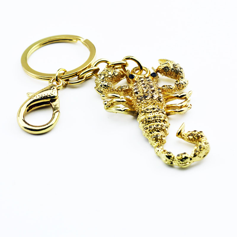 Fashion Scorpion Metal Pendant Crystal Charm Purse Car Keyring Luxury - Fashion Jewelry - Photo 4