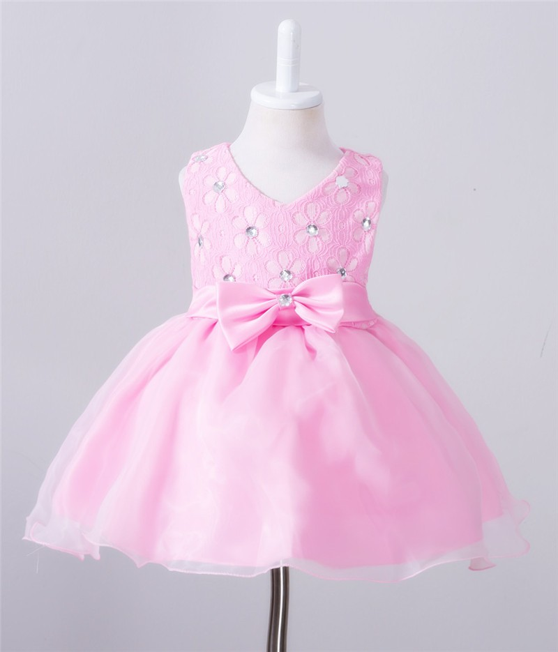 Baby Christening Bow Dress (15)