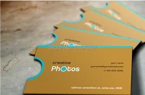 Image 4 - Aangepaste Vorm Visitekaartje Afdrukken Gepersonaliseerde Gestanst Visitekaartjes Ronde Hoeken En Full Color