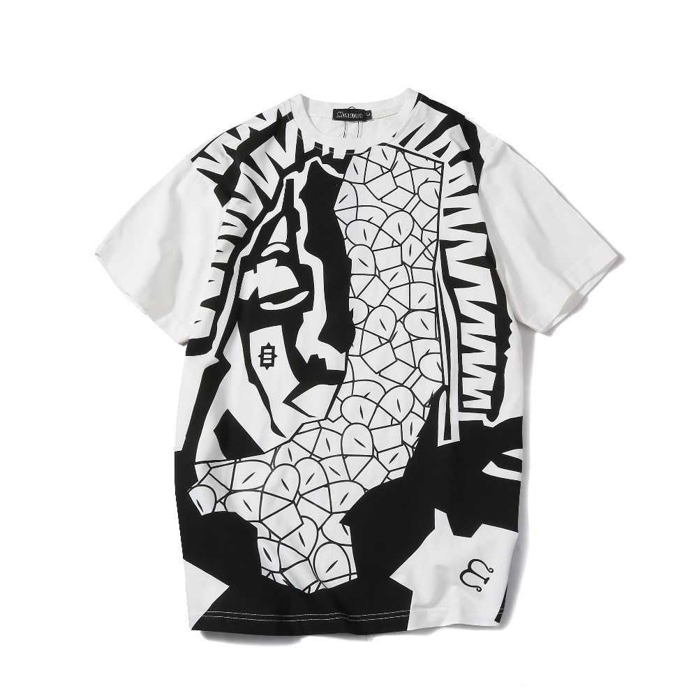 2018 для мужчин Harajuku Графический Тройник летняя новая мода трендовый стиль Топы футболки для мужчин s o-образным вырезом короткий рукав хлопок 3D Принт футболки