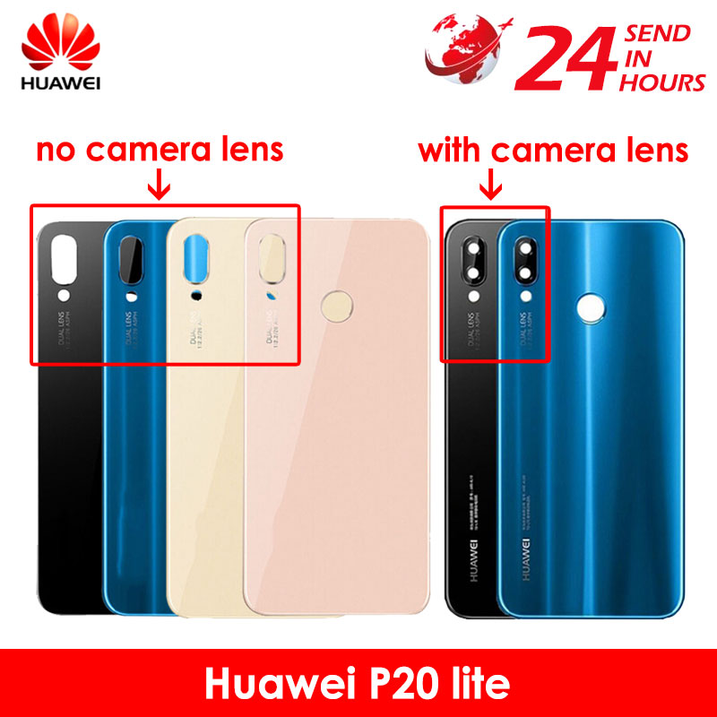 Glass-Cover Housing-Case Camera-Lens Back-Battery Huawei P20 Carcasa Lite with Nova 3e/Rear/Door