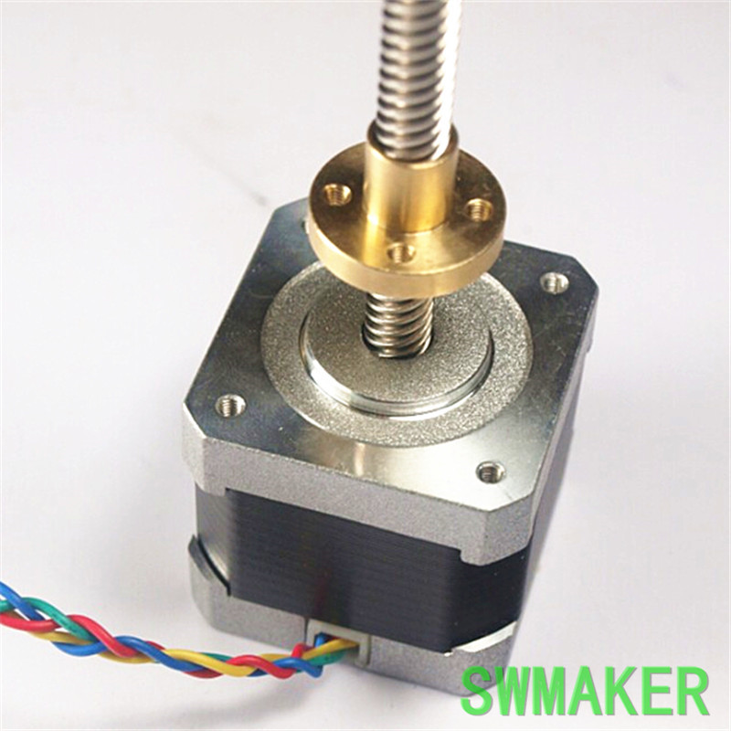 SWMAKER Ultimaker Z Motor with Trapezoidal Lead Screw TR 8*8(P2) 300 mm length 3d printer parts reprap ultimaker z motor with trapezoidal lead srew tr 8 8 p2 free shipping