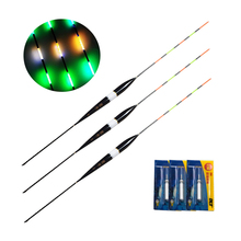 3pcs Fishing Float LED Electric Float Light + Battery Deep Water Float Fishing Tackle Bobber Fishing Gear With electrons
