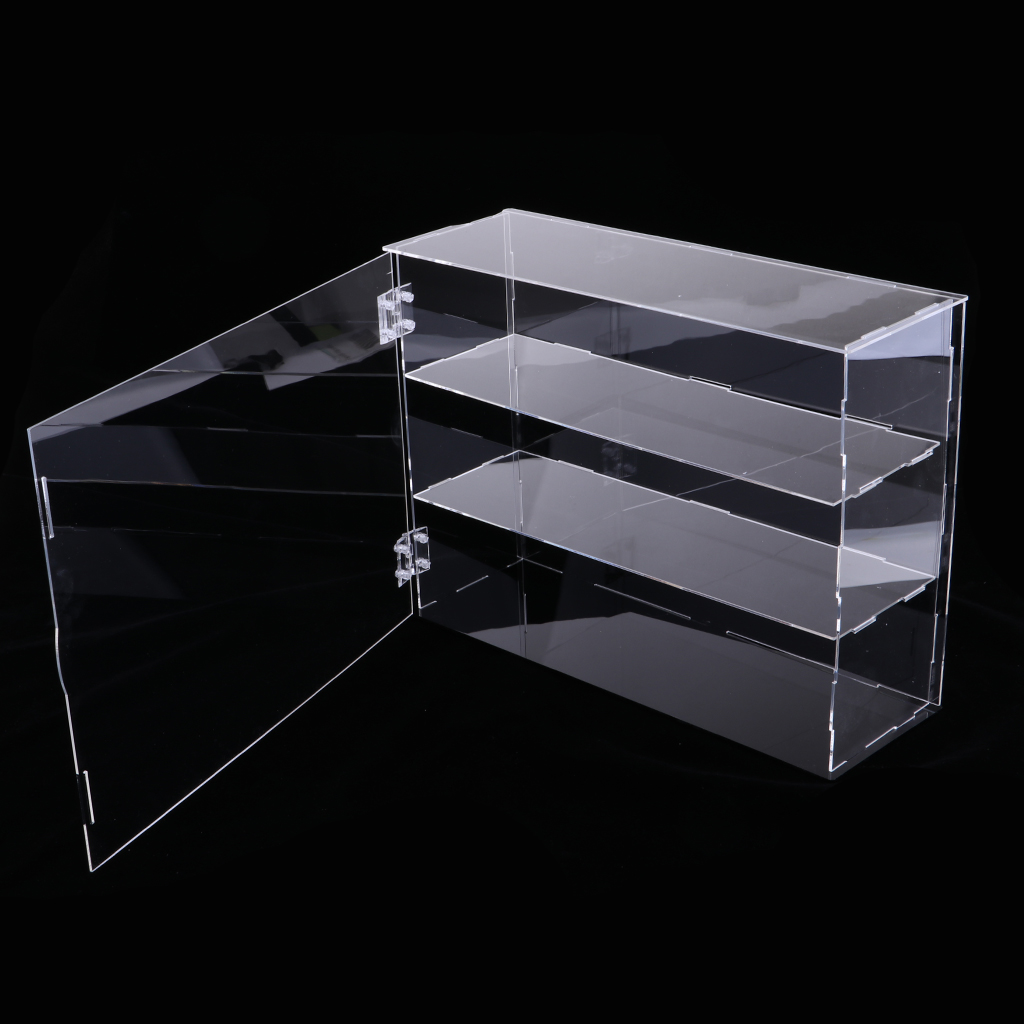32x10x24cm Acrylic Display Case Show Box Dustproof Holder for Anime Action Figure Dolls