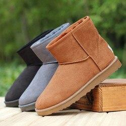 new mini Australian Style Women Unisex Snow Boots Waterproof Winter Leather Boots Brand IVG Size EU 35-45 free shipping