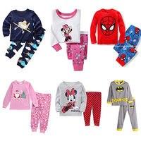 Christmas 2pcs Pajama SetsBaby Boy Girl Minnie Sleepwear Pajamas Set Kids Pyjamas Clothes 9 Style