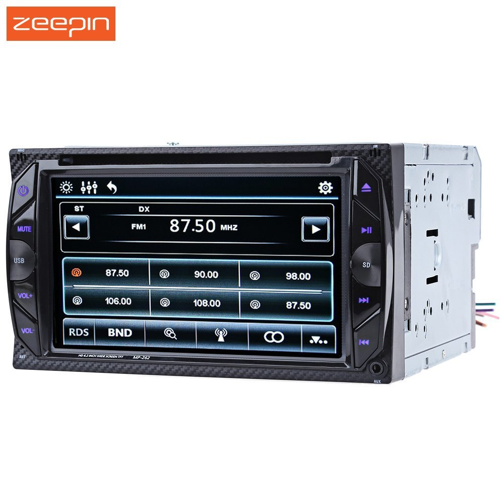 6.2 inch Zeepin Car DVD Player  Bluetooth 2Din Car Stereo Video Car Audio Video Player Digital Touch Screen SD USB FM Radio видеодиски нд плэй 28 панфиловцев dvd video dvd box
