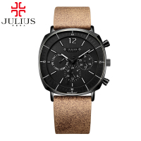 New Men Sports Fashion Genuine Leather Quartz Watch Men S Calendar Luminous Waterproof High Quality Clock