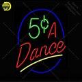 Танцевальная неоновая вывеска из настоящего стекла  лампочка для бара  пивного клуба  иконы  световые знаки для пивной комнаты  декоративна...