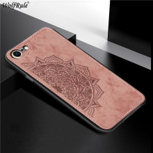 Cloth Fabric Case For iPhone SE 2020 7 8 Cover Soft TPU Frame Protective Phone Bumper For Apple iPhone SE 2020 7 8 Case 4.7'' protective anti radiation aviation aluminum alloy bumper frame case for iphone 5 5s golden