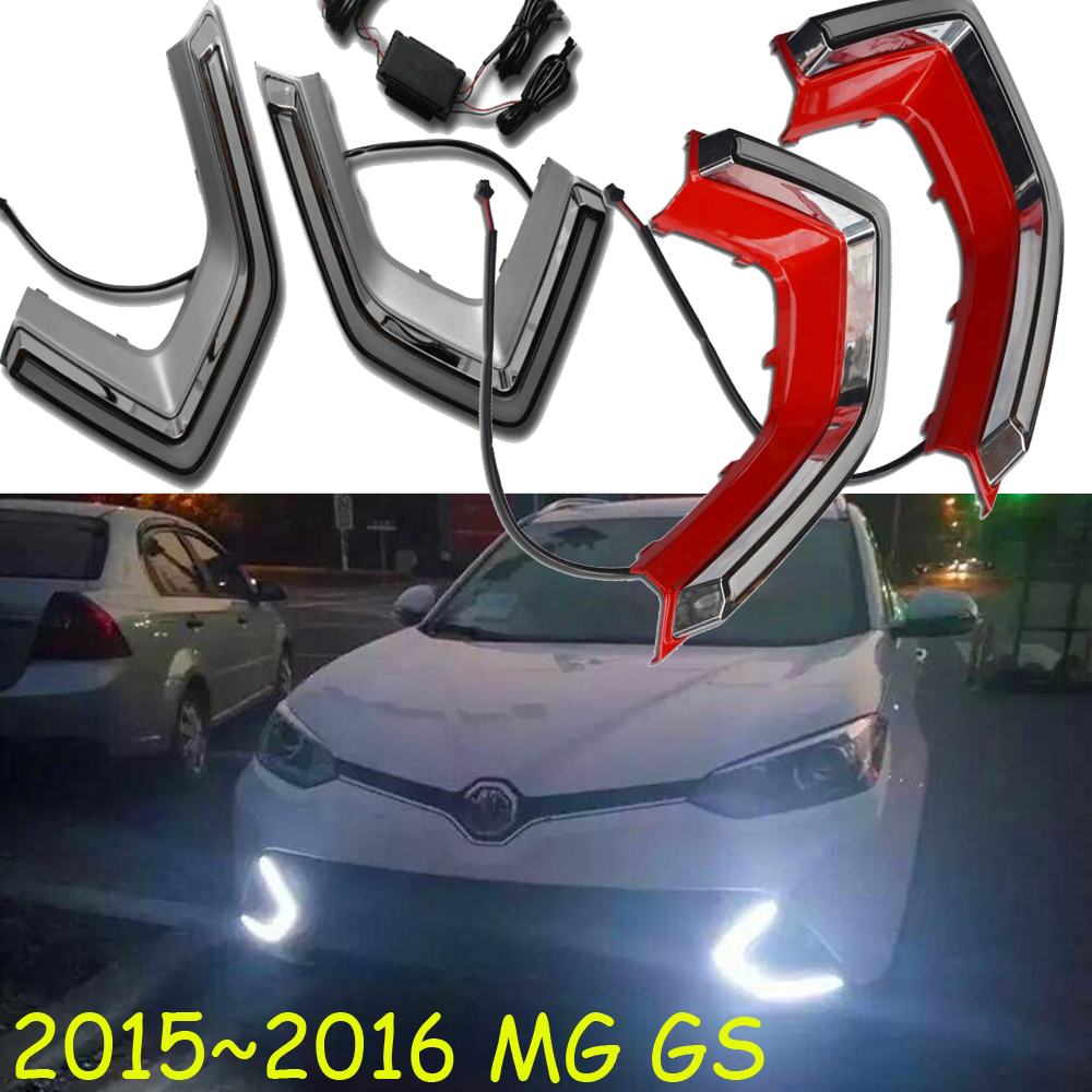 MG GS daytime light;2015~2017,Free ship!LED,Optional:Red/Silver,MG GS fog light,2pcs/set;MG GS teana fog light 2pcs set led sylphy daytime light free ship livina fog light