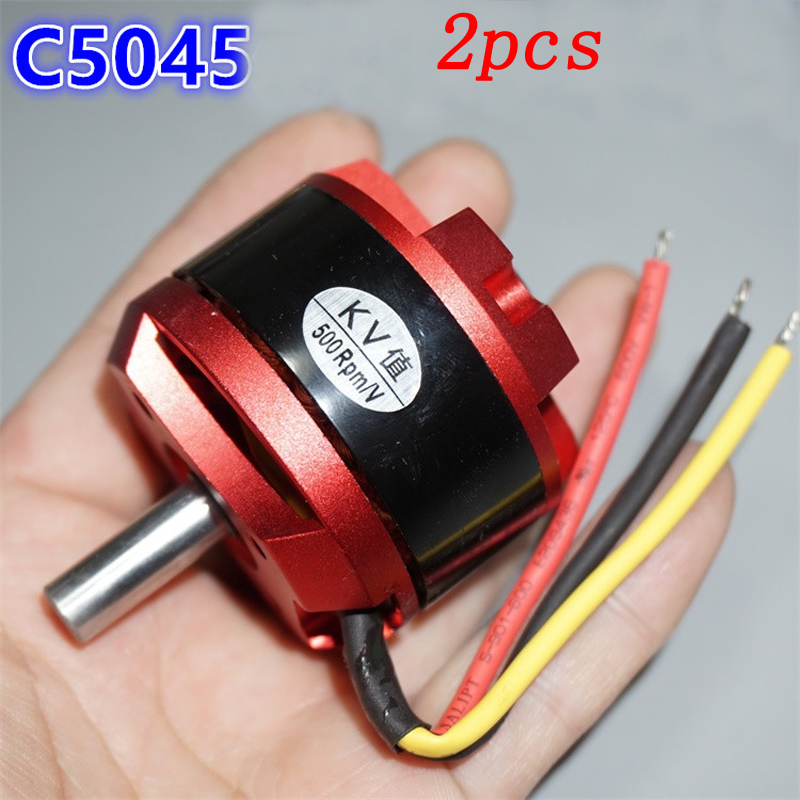 2pcs C5045 Outrunner Brushless Motor KV600  KV800 KV900 Large Torque High Speed Motors For RC Airplane