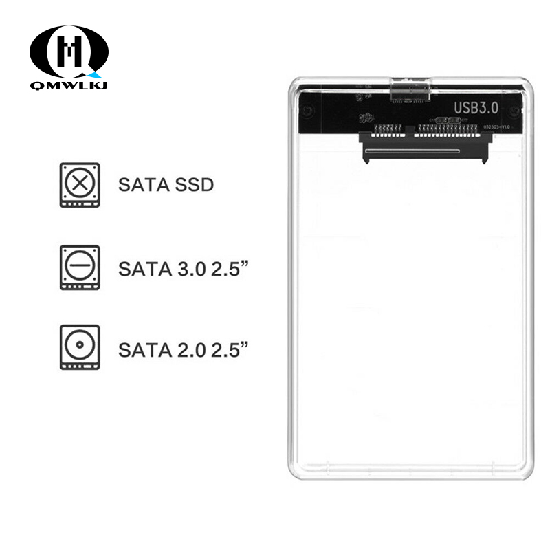 Image 2 - SATA to USB Mobile Hard Disk Drive Box USB 3.0 2.5 Hard Disk SSD Mechanical Disk Hard Box With USB Cable-in Harddisk & Boxs from Consumer Electronics