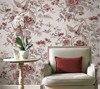 3D Pastoral Flowers Bird Wallpaper Embossed For Luxury Living Room Tv Background Covering 3d Wallpaper Papel