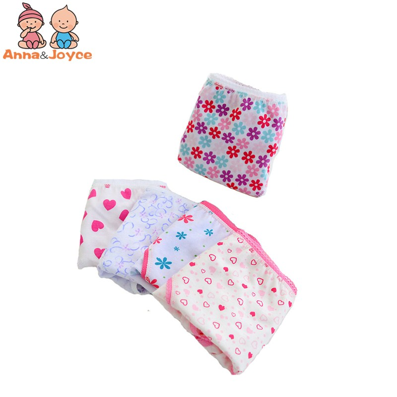 Sale 6 Pcs/lot New Candy Colors Mix Styles 100% Cotton Cartoon Print Children's Underwear Panties For 2-12 Years Baby
