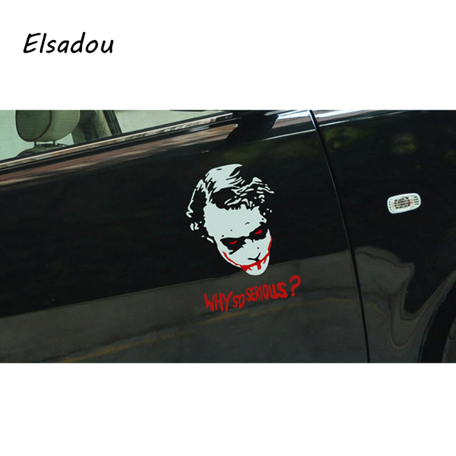 Elsadou Cool Cold Bloody Joker Car Sticker Why So Serious Batman - Cool car window decals
