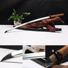 High Quality Full Handmade 1095 Carbon Steel Clay Tempered Brown Samurai Sword Katana Sharp Edge