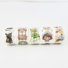 30mm*7m watercolordecor paper washi tape DIY decoration scrapbooking planner masking tape adhesive tape label sticker stationery недорого