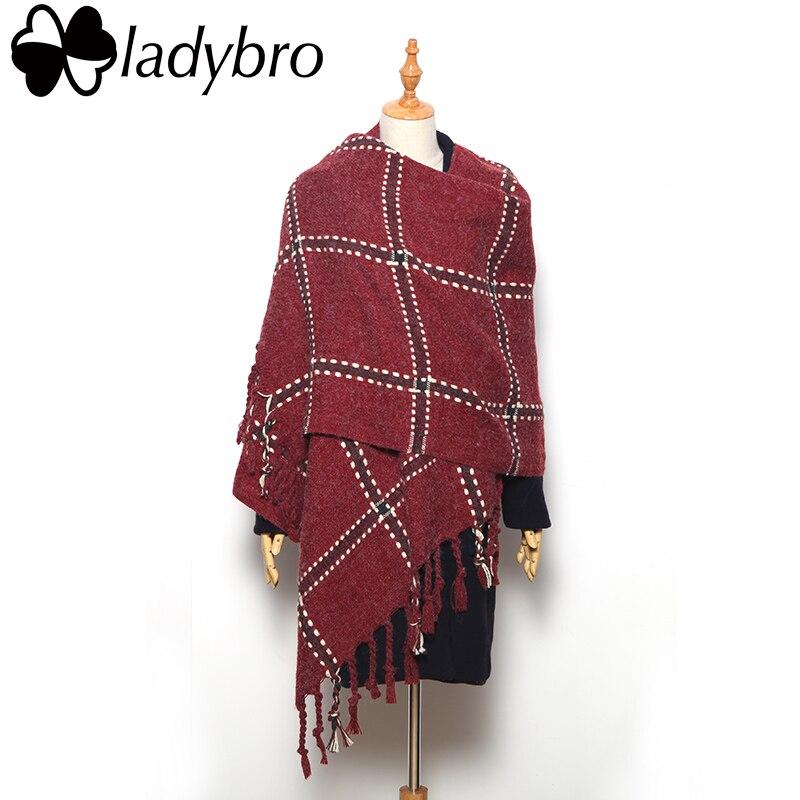 3ca16e5879 Ladybro bufanda de las mujeres mujer robó suave caliente bufandas de  invierno y el chal dama borla de 2019 marca bufanda de Manta negro Foulard