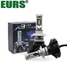 EURS (TM) X3 Faro Dell'automobile H1 H4 H11 H7 lampadine A Led 9005 HB3 Hi/lo Fascio lampade Auto lMotorcycle faro super Bright 12000lm 50 W
