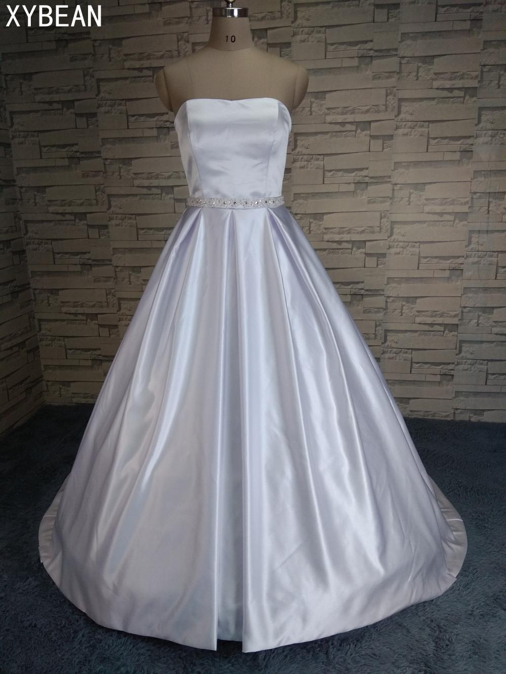 Cheap price 2017 new free shipping a line strapless with for Cheap wedding dress sites