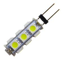 10pieces White G4 13 SMD LED 5050 DC 12V RV Marine Boat Camper Light Bulb Lamps