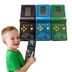 Retro clásico rompecabezas electrónico juguetes Tetris juego de juguetes educativos para niños jugadores integrados 23 juegos juego de ladrillo tanques de guerra