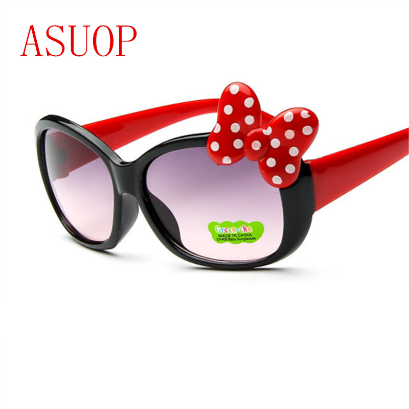 2019 New Fashion Barnsolglasögon UV400 Boys and Girls'Sunglasses International Brand Design Färg Butterfly Glasses