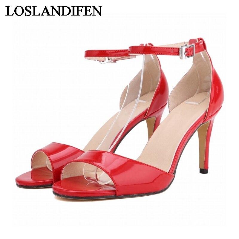 2018 Summer Rome Women Sandals Brand Design Fashion High Heels Ankle Strap Sandal Luxcury Gladiator Ladies Shoes NLK-C0038