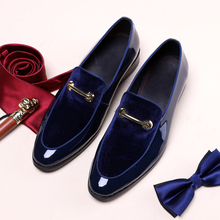 Allwesome Designer Shoes Men Loafers Luxury Brand 2019 Wedding Italian Patent Leather Oxford Pointed Toe Formal