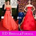 Jennifer Lawrence Vestido 2013 Golden Globe Awards Formal vestidos de Baile Vestido