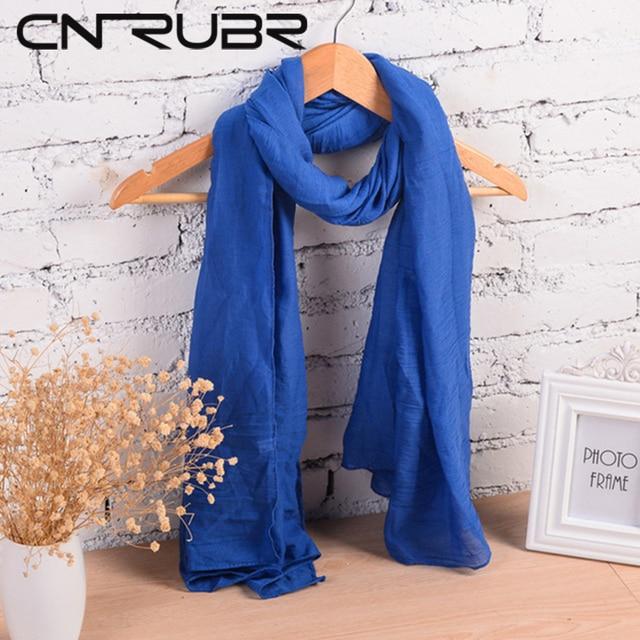 Женский мягкий шарф из хлопка, 18 цветов в наличии