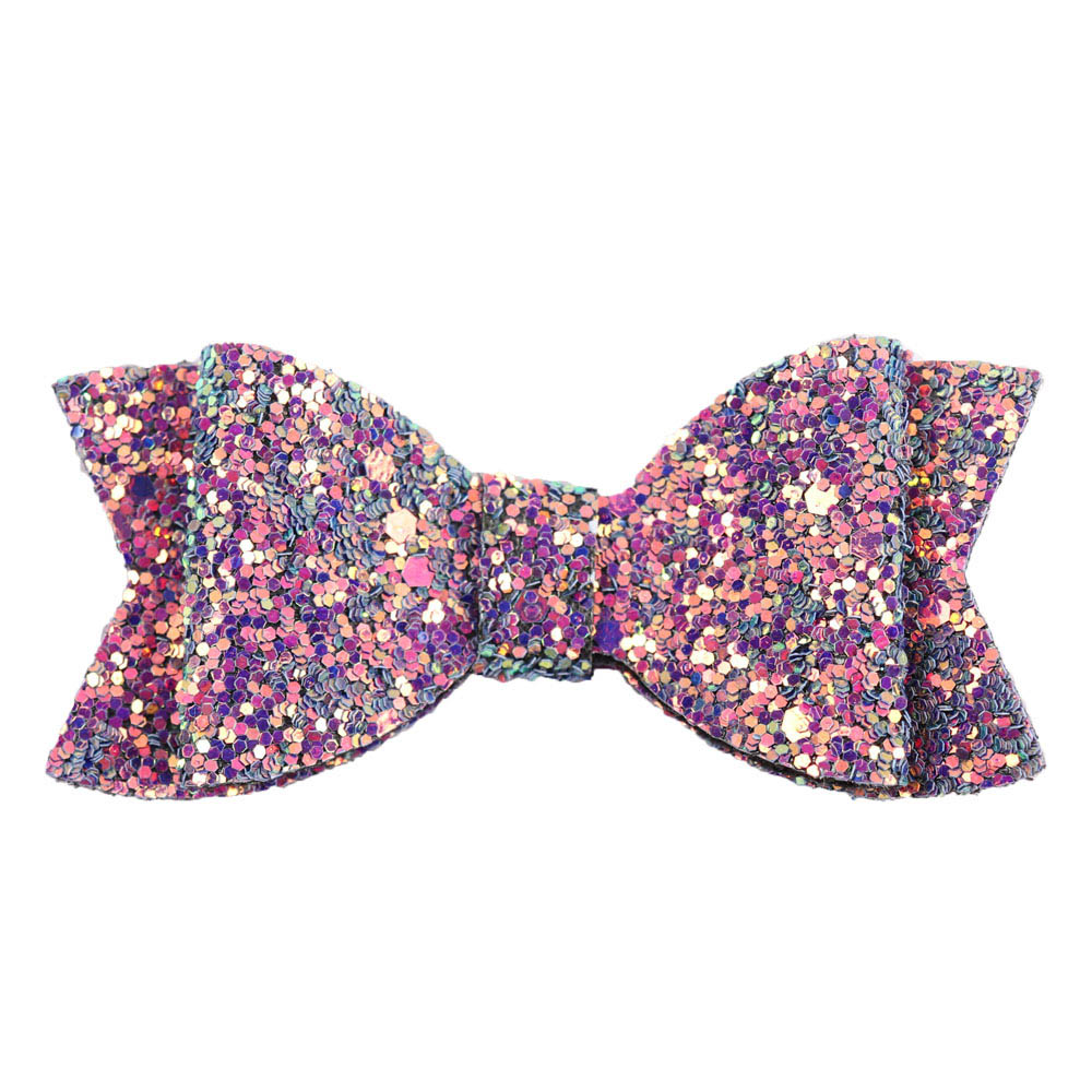 "3"" Cute Glitter Hair Bows Hair Clip For Girls Kids Handmade Boutique Small Colorful Bling Bows Hairgrip Hairpin Hair Accessories"