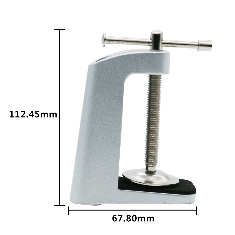 Cocosoly Silver black LED clincher desk lamp clip base tube lamp adjustable filter clamp to lamps accessories DIY