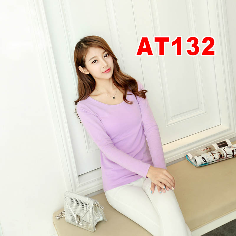 New Comfortable long sleeves T shirt in autumn and winter AT13