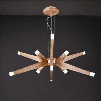 Luz colgante de acrílico de madera de 36 W Led creativo de Europa nórdica moderna para comedor restaurante sala de estar Dia 100 cm 1519
