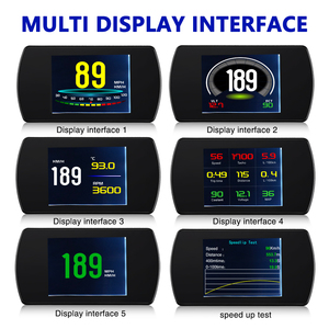 Image 3 - 3Inch OBD2 HUD P12 Car Head Up Display Auto Diagnostic Tools OBD Overspeed Warning System drving Computer