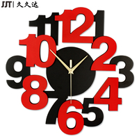 Modern Wall Wooden Clock 3D Digitals Wood Clock Watches Art Home Decoration Vintage Unique Gift